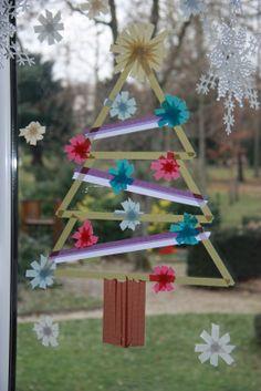 washi tape tree on window