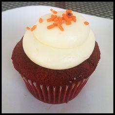 hokie cupcake: red velvet w/ orange sprinkles