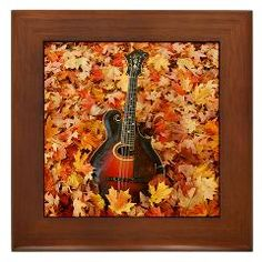 Gibson Mandolin (Mandola) in Autumn Leaves Framed Tile ($9.99)
