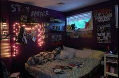 Punk Bedroom, Grunge Bedroom, Tumblr Bedroom, Tumblr Rooms, Awesome Bedrooms, Cool Rooms, Simple Bedrooms, Small Rooms, Room Ideas Bedroom