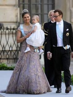 Princess Victoria and Princess Estelle and Prince Daniel of Sweden. Prettiest  princess at the wedding was Estelle! ;-)