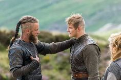 "Ragnar Lothbrok and Björn Ironside, from ""Vikings"""