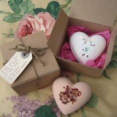 handmade heart bath bomb valentine love token by bow boutique | notonthehighstreet.com