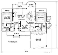 Larkspur   Perfect House Plan With Two Master Suites