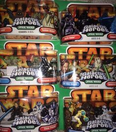 Star Wars Lot of 6 Galactic Heroes by Hasbro 2004 2005 | eBay