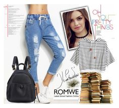 """""""ROMWE 17/9"""" by melissa995 ❤ liked on Polyvore featuring White Label"""