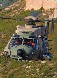 Helicopter NH-90 & Minigum M134