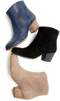 ankle bootie with easy side zipper