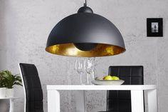 Moderne Hängelampe STUDIO schwarz gold Lampe Blattgold
