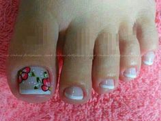 Mag French Pedicure, Pedicure Nail Art, Toe Nail Art, Manicure, Cute Pedicure Designs, Toe Nail Designs, Summer Toe Nails, Spring Nails, Summer Toe Designs