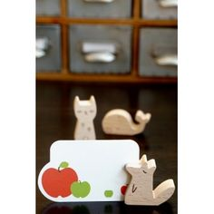 Photo: Kawaii Wood Memo Card Photo Clip