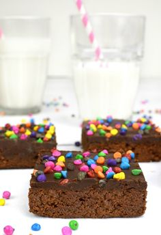Rich, fudgy Brownies topped with a wonderfully thick, chocoate ganache frosting. These are an amazing homemade copycat version of Little Debbies Cosmic Brownies!  Take a trip down memory lane with me: you are in elementary school, sitting in a big cafeteria. In front of you sits your lunch box, decorated with whatever cartoon character …