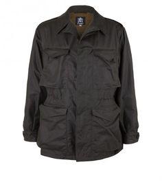 D-43 Dark Green Waxed Cotton Field Jacket | Drake's