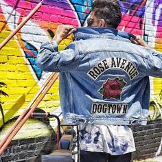 """23.3k Likes, 76 Comments - Levi's® (@levis) on Instagram: """"Riding and repping Rose Ave. . . 📷: @jessewelle, who gave away 10 of these custom Trucker Jackets…"""""""