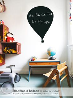 Blackboard Balloon - Wall Sticker | Vinylize Wall Deco