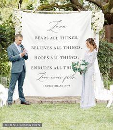 Dream Wedding, Wedding Day, Wedding Signs, Godly Wedding, Wedding Stuff, Wedding Banners, Renewal Wedding, Church Wedding, Wedding Themes