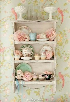Shabby Chic teacups set collection