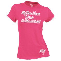 Reebok Tampa Bay Buccaneers Ladies My Team Wears Pink Double Layer T-Shirt  - Pink 53d2ba6ed