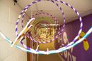 What a cool way to illustrate motion and movement! Hang a series of hula-hoops from ceilings! cokesburyvbs.com
