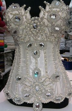 pearl and crystal corset