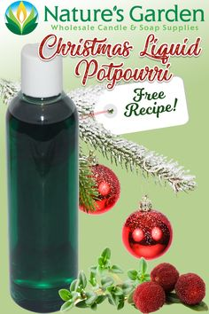 Free Christmas Liquid Potpourri Recipe by Natures Garden.