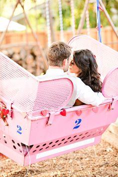 backyard carnival wedding // photo by Brooke Beasley // view more: http://ruffledblog.com/backyard-carnival-themed-wedding