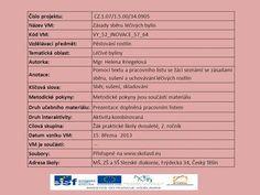 Číslo projektu: CZ.1.07/1.5.00/34.0905 Název VM:Zásady sběru léčivých bylin Kód VM:VY_52_INOVACE_57_64 Vzdělávací předmět:Pěstování rostlin Tematická oblast:Léčivé.