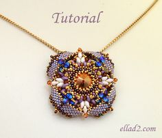 Beading Tutorial for Pendant Eterno is very detailed, with clear beading instructions, step by step and with photos of each step (26 steps)