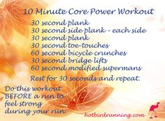 10 Minute Core Power - #FunDay Friday Workout - Blog - Certified Run Coaches #FitFluential