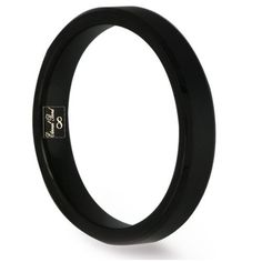PITCH-4MM Black Tungsten Carbide Brushed Center Beveled Edges Wedding Band (Size 4-15) Eternal Bond. $44.45