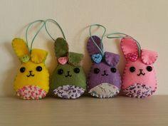 Cute handmade felt bunny felt animals easter by BarbaraCreazioni