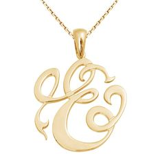 Single Monogram Necklace, initial necklace, single initial monogram in Sterling Silver Metal 18K Yellow Gold Plated