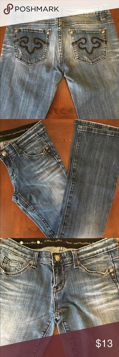 Express Rerock Bootcut Jeans: size 4 Bootcut Express jeans.  98% cotton 2% spandex.  Great condition...great fit. Express Jeans Boot Cut