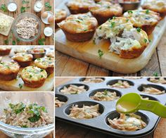 Chicken and Cheese Mini Pies