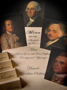 Activities: Who Were the Founding Fathers? dinner party