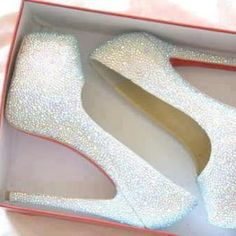 white sparkles shoes loubs red bottoms