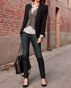 14 Outfits femeninos con pantalón para llevar al trabajo 6fd3c09a2f48