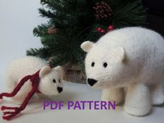 anybody wants to make some polar bear! Here is a pattern I just found:    Knitting Pattern Polar Bear Stuffed Animal by MostlyMammals, $5.99