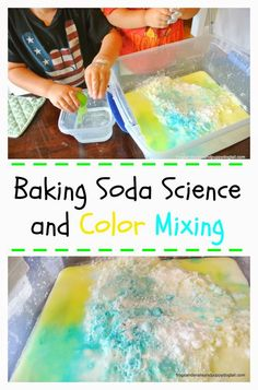 Baking Soda Science and Color Mixing 20 Simple Science Experiments Kids Love Preschool Science, Science For Kids, Science Activities, Science Experiments, Primary Science, Science Fun, Science Ideas, Science Projects, Baking Soda Experiments