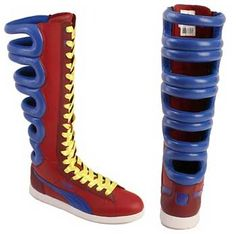 Puma's First Round Boot - sneakers for superheroes > Women's Fashion Police Funky Shoes, Crazy Shoes, Weird Shoes, Sneakers Fashion, Fashion Shoes, Burning Man Outfits, First Round, Pumas, Sneaker Boots