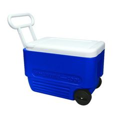 "Ready for the beach with our new ""wheelie cool"" cooler"