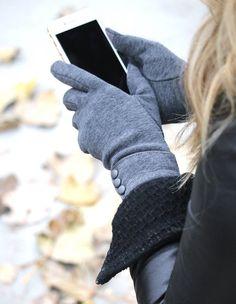 Classic Button Touch Screen Gloves 0ed0fce88ca93
