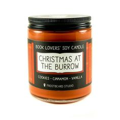 Christmas at the Burrow  8 oz Book Lovers' Soy Candle