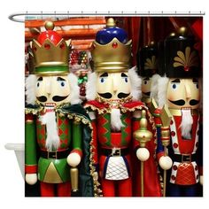 #Nutcracker #Christmas Soldiers Shower Curtain on #CafePress by #Gravityx9 Designs -