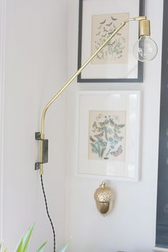 DIY Brass Swing Lamp inspired by the original handcrafted lamps over at One Forty Three! ty, poppytalk. via hello lidy