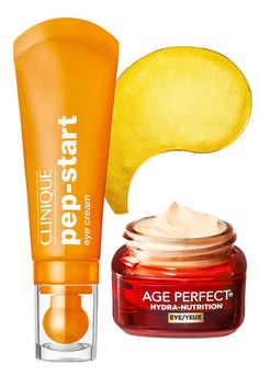 """""""Your eyes are the greatest focus on your face, making them the smartest investment,"""" says Palm. Caffeine in Clinique's cream and Peter Thomas Roth's patches helps relieve puffiness, while deep moisturizers like shea butter in L'Oréal Paris's balm plump fine lines. Peter Thomas Roth 24K Gold Pure Luxury Lift & Firm Hydra-Gel Eye Patches, $75 for 60, ulta.com; Clinique Pep-Start Eye Cream, $27, sephora.com; L'Oréal Paris Age Perfect Hydra-Nutrition Eye Balm, $20, drugstore.com."""