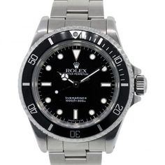 96a13e1707 Rolex 14060 Submariner Non-Date Black Dial Steel Watch
