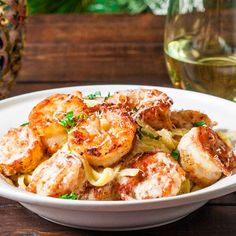 Crispy Cajun Shrimp Fettuccine - Jo Cooks