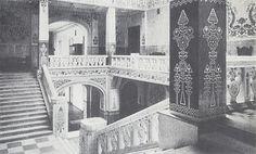 The main stairway in the Poltava Zemstvo Building designed by Vasyl H. Krychevsky in 1903-1907.