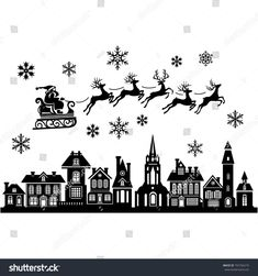 Find Silhouette Stylized Facades Old Buildings Santa stock images in HD and millions of other royalty-free stock photos, illustrations and vectors in the Shutterstock collection. Thousands of new, high-quality pictures added every day. Christmas Templates, Christmas Clipart, Building Silhouette, Deer Silhouette, Geometric Throws, Old Buildings, Deco, Facades, Royalty Free Stock Photos